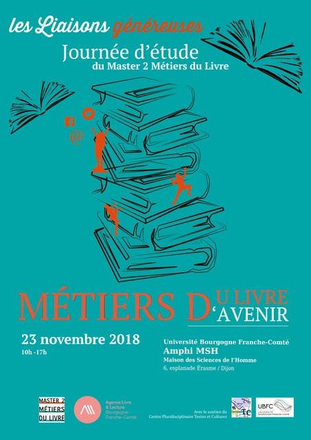Journée d'étude organisée par le M2 Métiers du livre : Métiers du livre, métiers d'avenir.