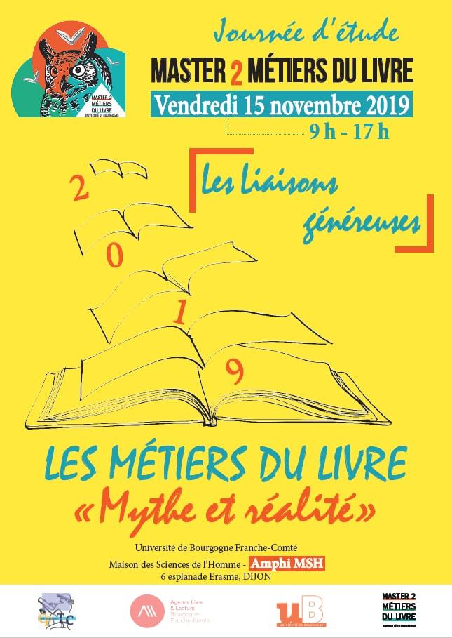 2e journée d'étude du M2 Métiers du livre à Dijon : Métiers du livre, mythe et réalité