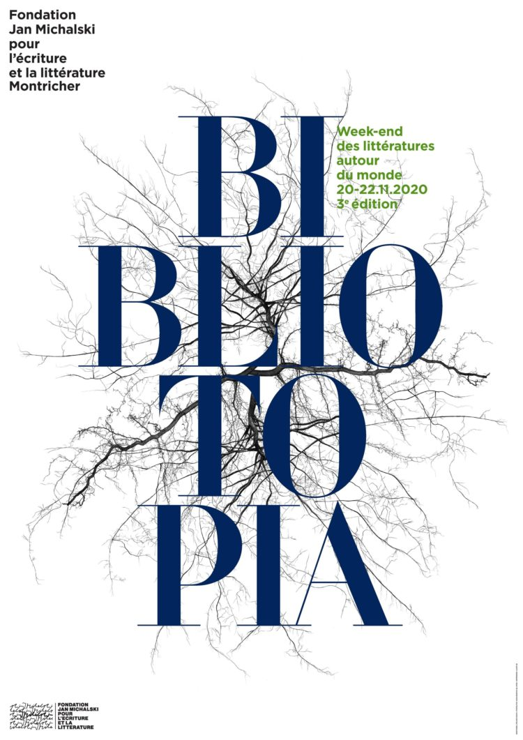 Affiche du festival Bibliotopia 2020
