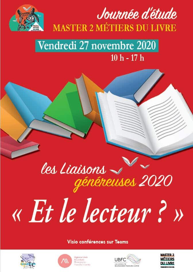 Et le lecteur ? Journée d'étude organisée par le M2 Métiers du Livre à Dijon le 27 novembre 2020.